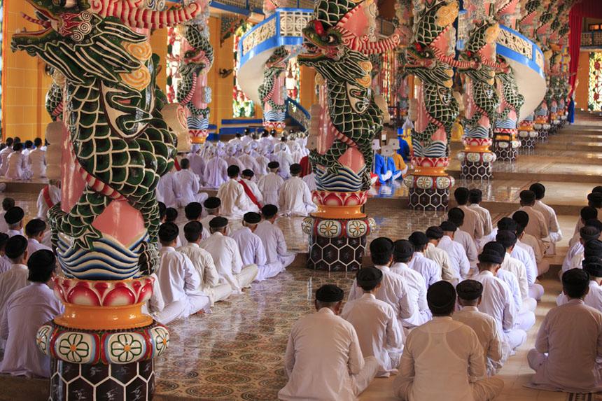 Caodai temple near Ho Chi Minh City, Vietnam